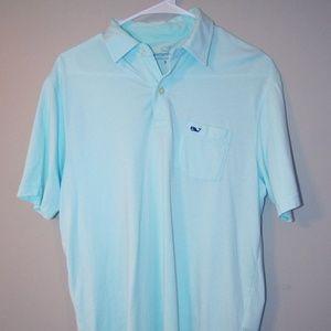 Teal Vineyard Vines Golf Shirt (Pima Cotton)